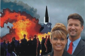 Sarah Palin accidentally burns her own book