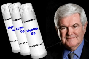 Gingrich used taxpayer funds for anal bleaching