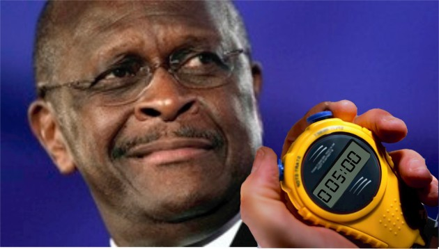 Herman Cain Times His Pause