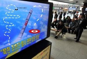 North Koreans Watch Successul Rocket Launch