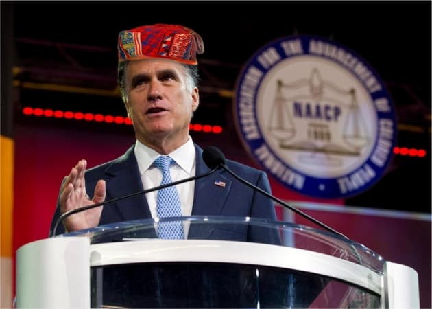 Romney at NAACP