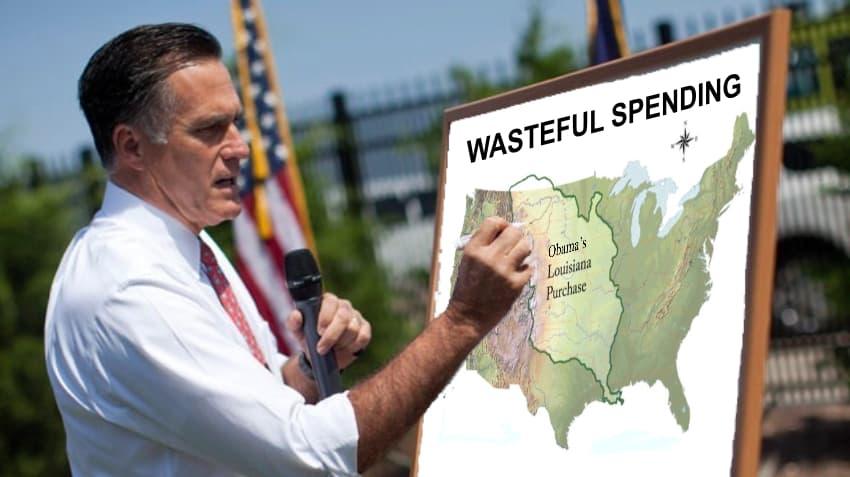 Romney Crtiicizes Obama for Louisiana Purchase