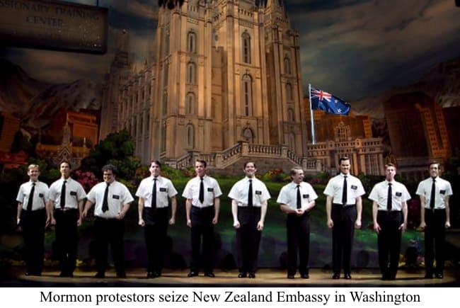 Mormon Protestors Seize New Zealand Embassy
