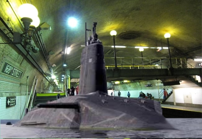 NY Subway Replaces Trains with Submarines