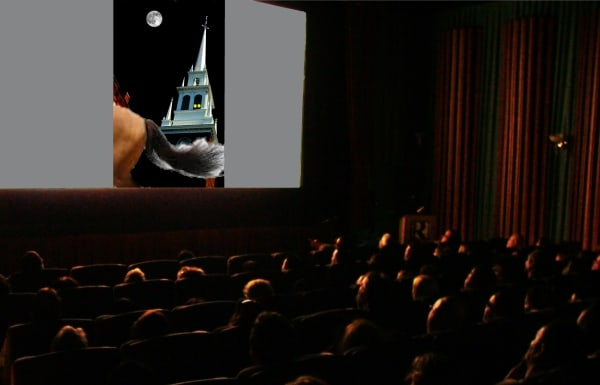 Audience watches Paul Revere movie in theater