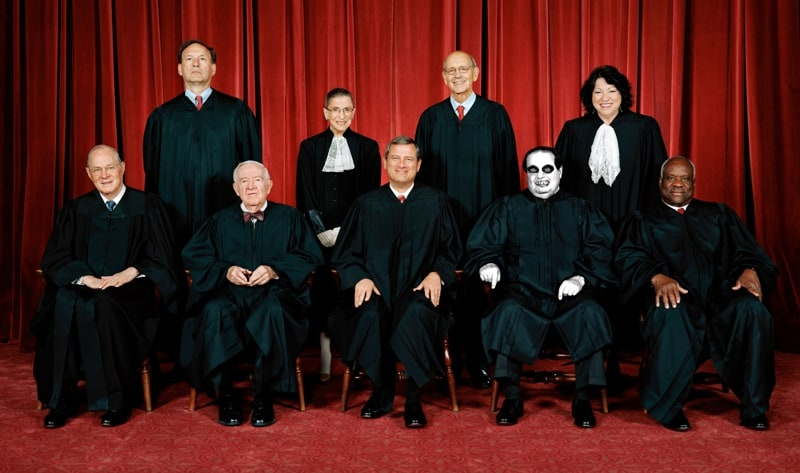Supreme Court with Dead Scalia