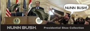 Iraqi Citizen Hurls his Shoe at George Bush