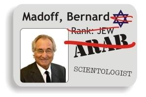 Bernie Madoff gets demoted to Arab