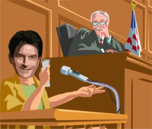 Charlie Sheen and Judge