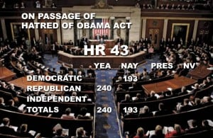 GOP passes the Hatred of Obama Act