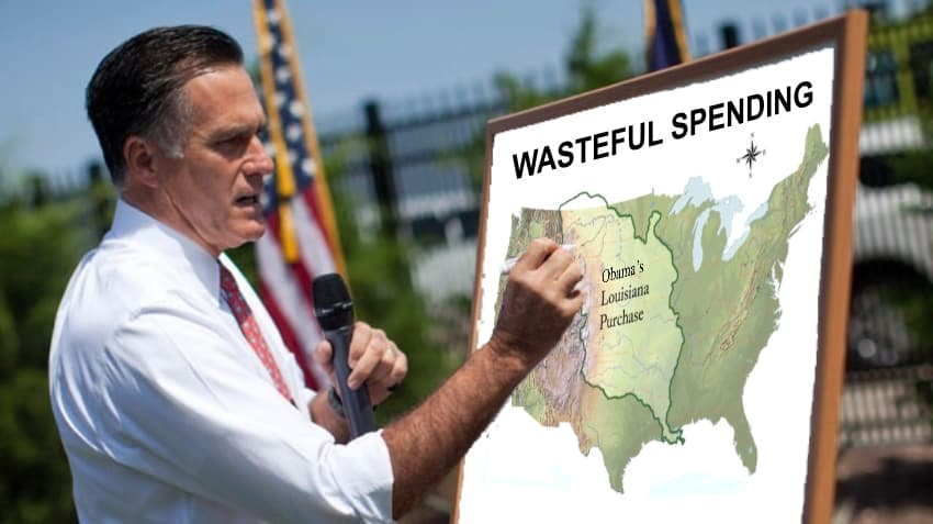 Romney Crtiicizes Obama for Louisiana Purchase